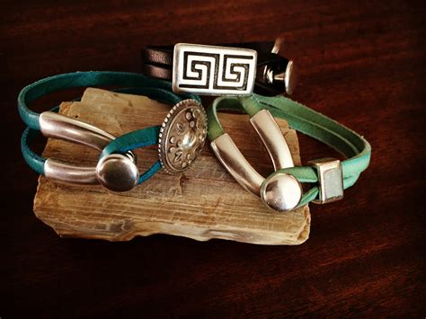 Handmade Leather Cuff Bracelets - handmade leather cuff bracelets with wishbone clasp rm353 356