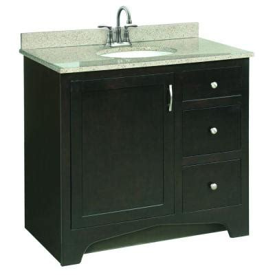 design house ventura 36 in w x 21 in d pre assembled - Assembled Bathroom Cabinets
