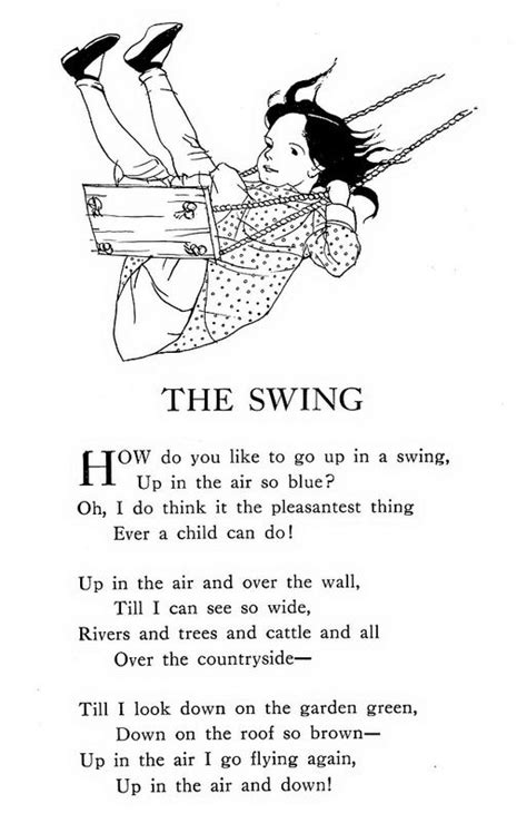 the swing poem by robert louis stevenson 1000 images about swing swang swung on pinterest the