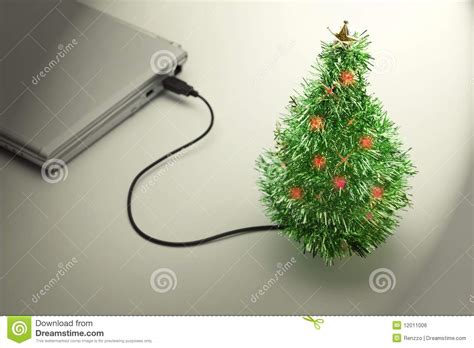 weihnachtsferien usb weihnachtsbaum stockfoto bild