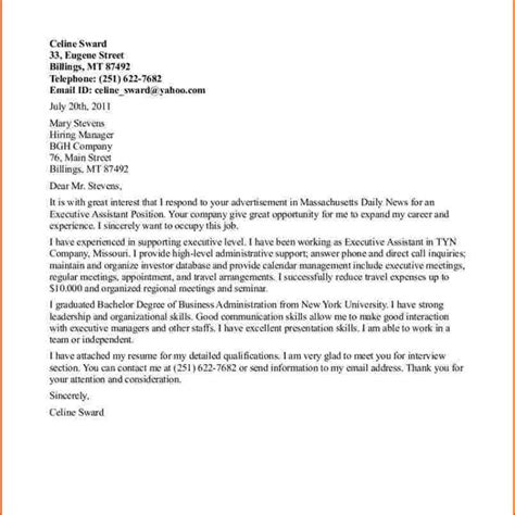 Cover Letter Exles Senior Management Proper Executive Cover Letter Exles Letter Format Writing