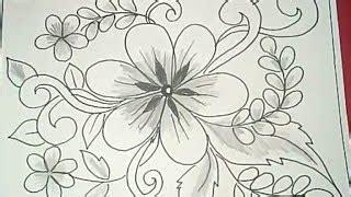 menggambar  mewarnai batik bunga