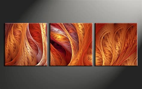 brown red and orange home decor 3 piece modern brown canvas photography