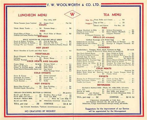 woolworths cafe design quarter menu 1676 best images about the 50s diner on pinterest