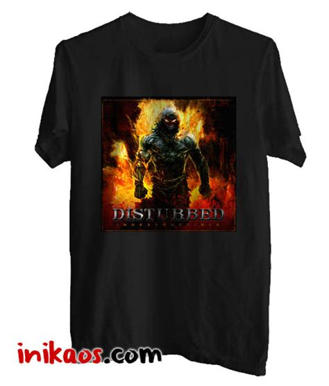 Kaos Metal No 54 kaos disturbed indestructible metal band kode dtb01 dari