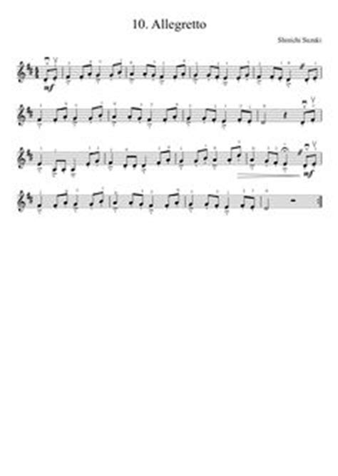 Suzuki Allegro Violin Suzuki Violin Method V 1 2 Lightly Row Musescore