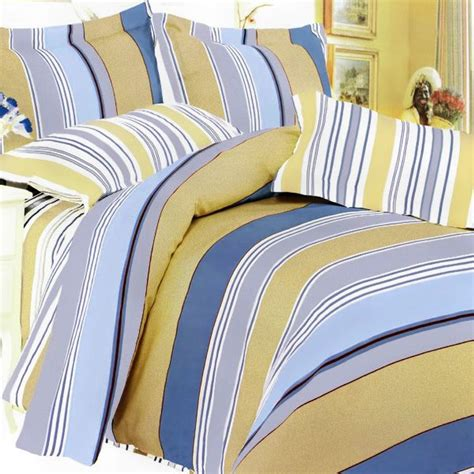 blue and yellow bedding golden blue stripes duvet