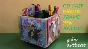 How To Make A Cd Sleeve Out Of Paper - diy photo frame pen holder recycle cd cases tissue