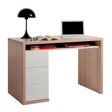 alinea bureau blanc alin 233 a moneta bureau bicolore avec 3 tiroirs naturel