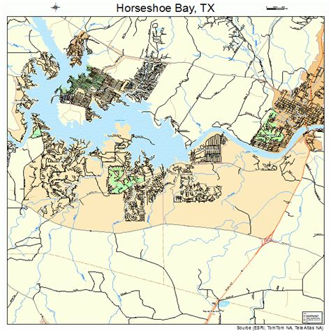 map of horseshoe bay texas horseshoe bay texas map 4834862