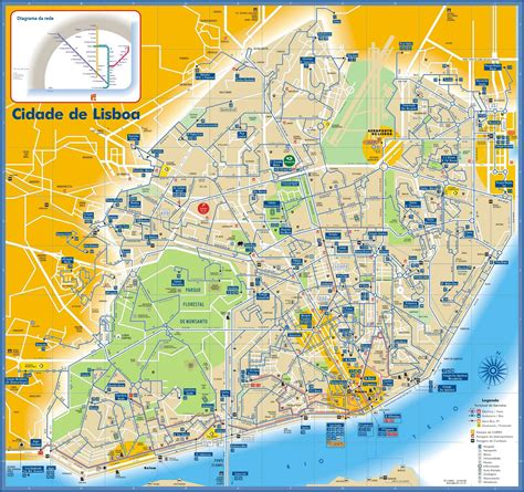autobus porto lisbona lisboa and subway map lisboa portugual mappery