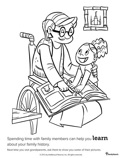 lds coloring pages of family spending time with family
