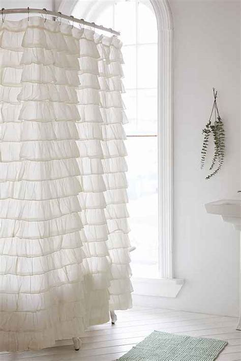 urban shower curtain waterfall ruffle shower curtain urban outfitters