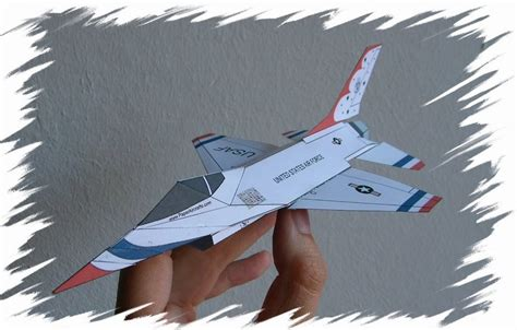 How To Make A Paper 16 - paperaircrafts paper f 16 model