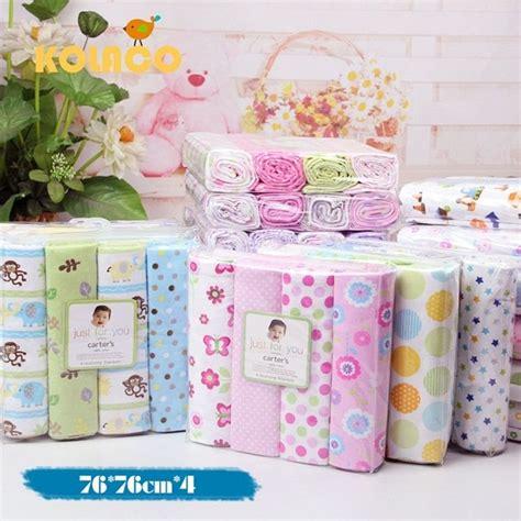 Terbaik Baby Popok Bayi 100 Gram aliexpress beli 4 pcs lot baru lahir bayi seprai katun 100 lembut lembar boks 76 x