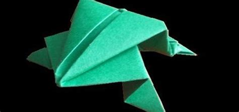 Make Frog From Paper - how to make a jumping frog from paper with origami