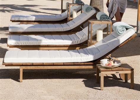 Tribu Kos by Tribu Kos Teak Sun Lounger Tribu Garden Furniture