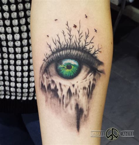 mother earth tattoo earth eye by samael cahill