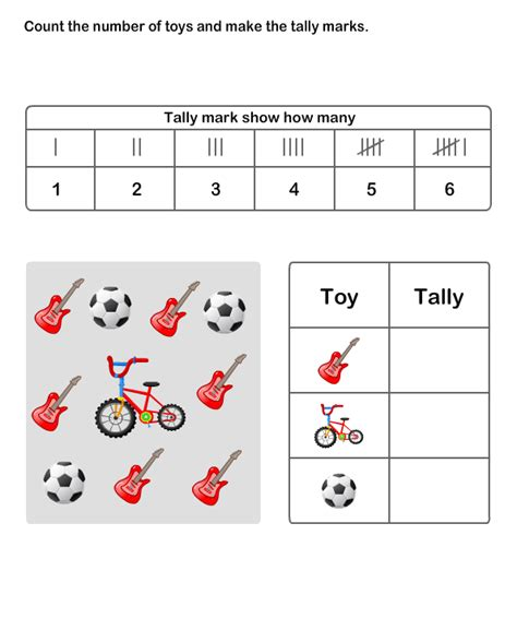 printable tally chart worksheets for math worksheets grade 2 worksheets tally chart