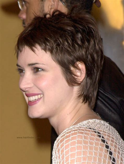 pixie haircutd with short neckline winona ryder short pixie cut best short hair styles