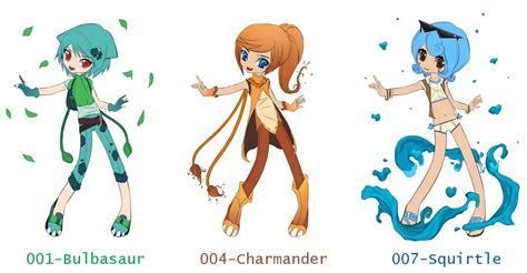 Free Pokemon Giveaway - free pokemon starters gijinka giveaway closed by bananadopt on deviantart