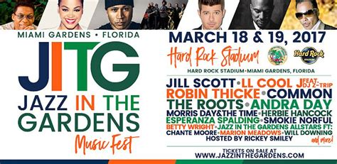 Jazz In The Gardens Tickets by Jazz In The Gardens Jazz In The Gardens 2017