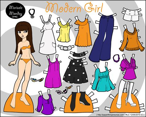 printable paper dolls and clothes marisole monday modern girl paper thin personas