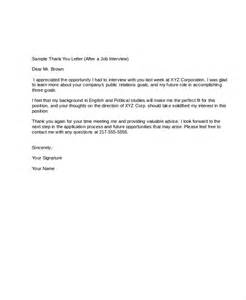 sle post thank you letters cover letter templates