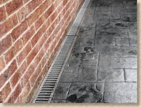 Patio Channel Drain by Having A New Patio Laid And Not Sure It S Being Done