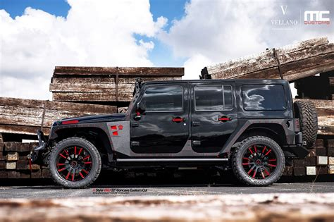 suv jeep black jeep wrangler suv black vellano wheels tuning cars