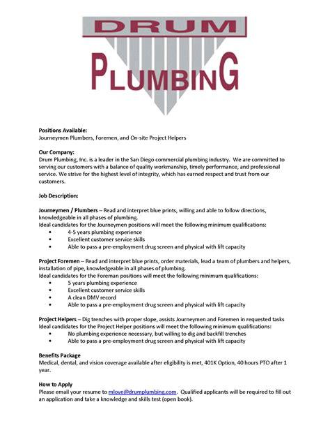 Plumbing Hiring by Plumbing Employment In Plumbing Contractor