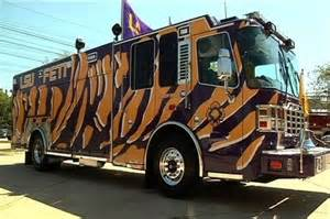 Lsu fire trucks and painted patterns on pinterest