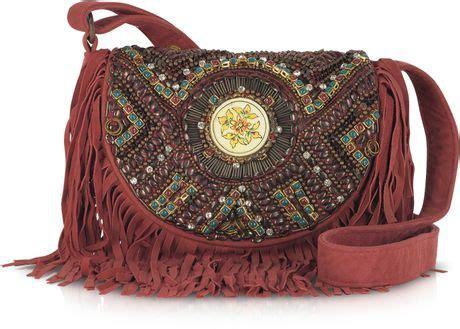 Dress Batik Jumbo Modern 169 Kg antik batik embroidered suede shoulder bag in purple burgundy lyst