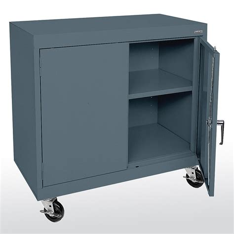 Metal Storage Cabinet Sandusky Cabinets Ta11361830 Ta11362430 Mobile Counter Height Storage Metal Cabinet