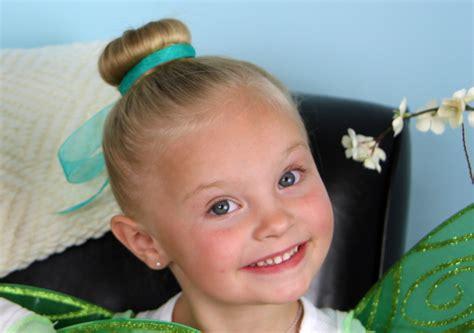 Tinker Bell Hair Bun   Disney Hairstyles   Cute Girls