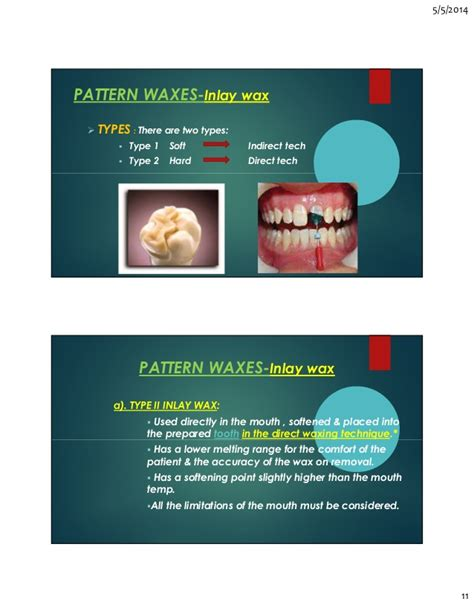 different types of waxes dental waxes