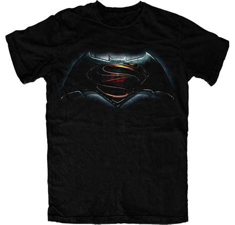 official t shirt batman vs superman of justice logo