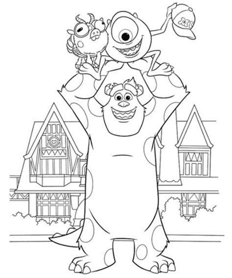 coloring pages of monsters university monsters university coloring pages monsters pinterest