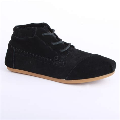 toms tribal boots womens laced laced suede boots shoes black