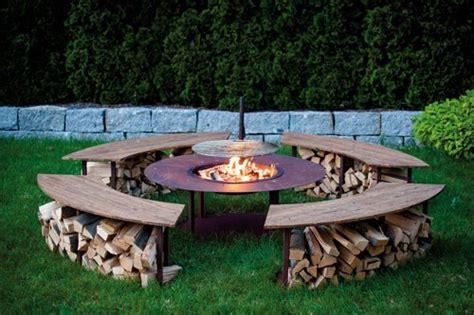 feuerstelle mit grill feuerstelle outdoor model quot circle quot set mit grill und 4