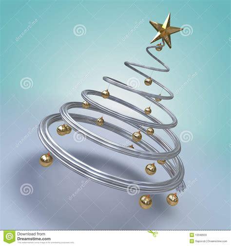 moderner weihnachtsbaum stock abbildung bild von