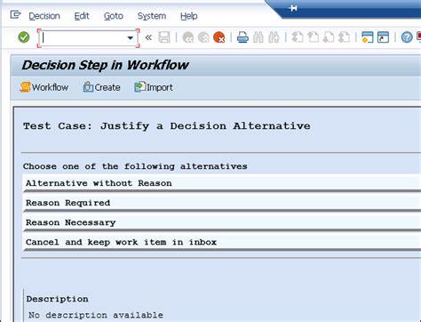 sap workflow user decision exle sap business workflow start and termination