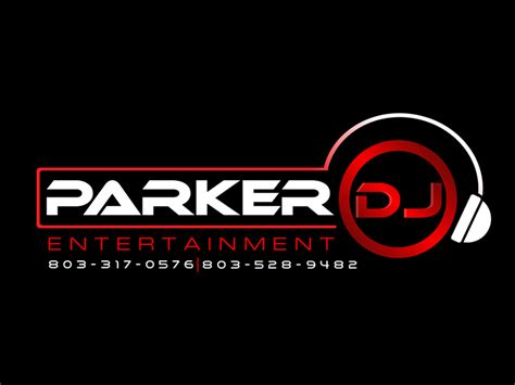 design a dj logo elegant serious logo design for parker dj entertainment