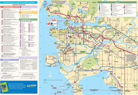 printable map vancouver bc maps update 12001057 vancouver tourist map 15 toprated