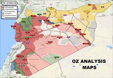 syria on map nationwide map of syria february 10 2018
