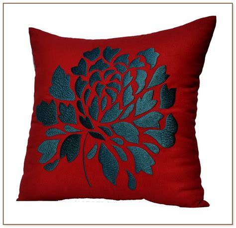 red throw pillows for couch red floral throw pillows