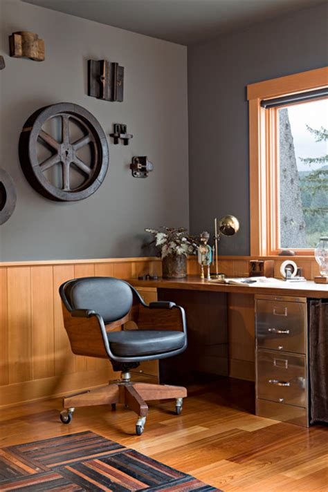 industrial home office design ideas  simple