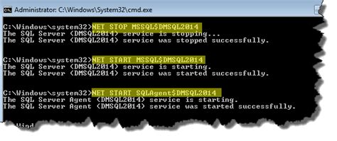 xp configure command without mssql 4 start sql server in single user mode command prompt