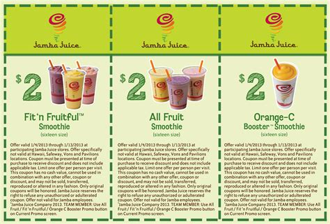 National Black Mba Discount Code by Jamba Juice Fruit Smoothies Only 2 00 New Coupons To
