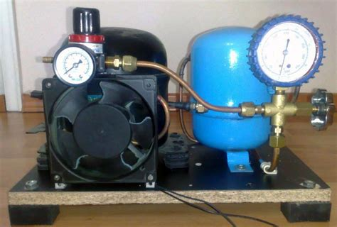 small diy air compressor with active cooling